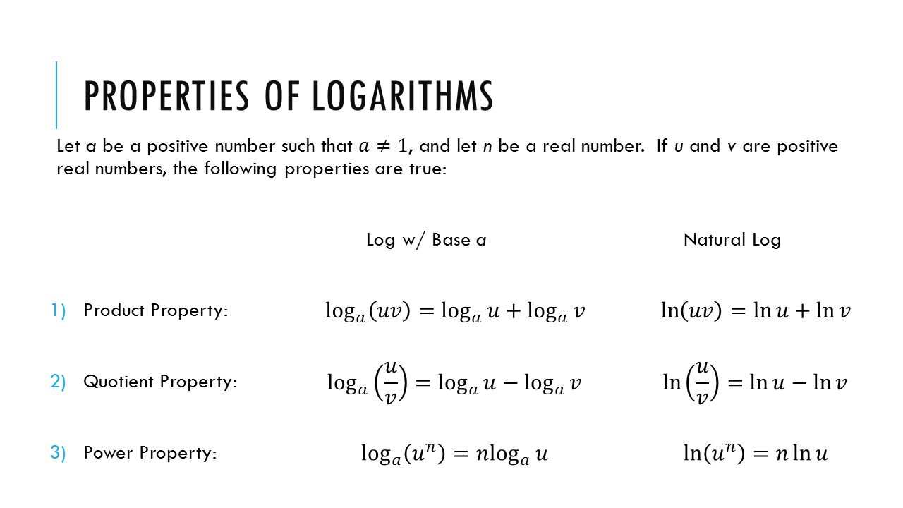 Uncategorized Log Properties Worksheet warm up evaluate log 3 81 solve for x log5 2x3 4x 8 properties of logarithms