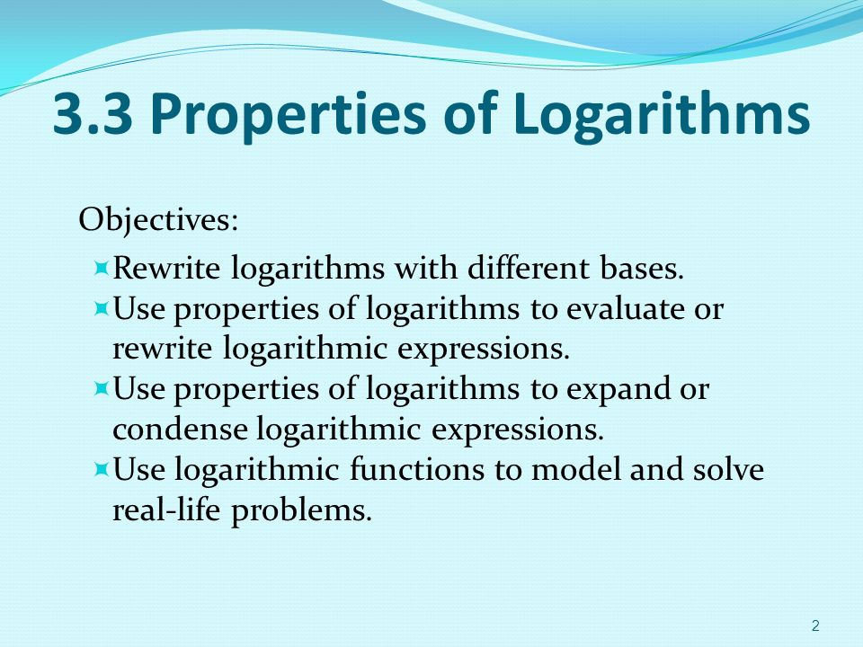 how to condense logarithms with different bases in a relationship