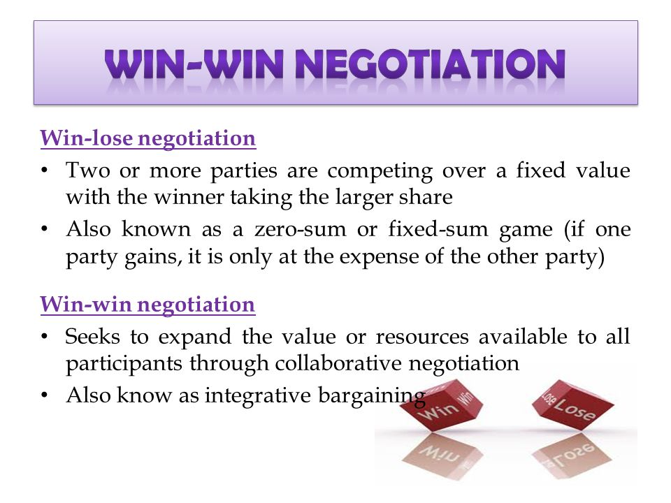 ethical win win negotiation case study Strategies for effective negotiation a hands-on approach to getting to a win-win practice international and multi-cultural negotiation and case study.