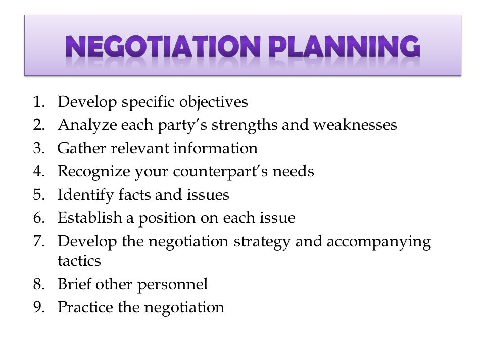 negotiation preparation memo 15% negotiation preparation memo for first exercise preparation sheets require the following information (1) your interests, (2) the other party's interests, (3) options for creating mutual gain, (4) strategies.