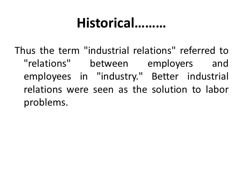 The conflicting issues between industrial relations and unitarism