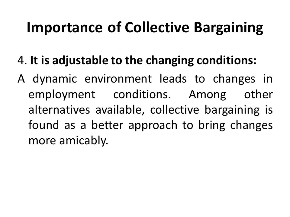 collective bargaining for environmental protection a Unions and collective bargaining - economic effects in a global environment ( english) abstract the development of industrial relations in.