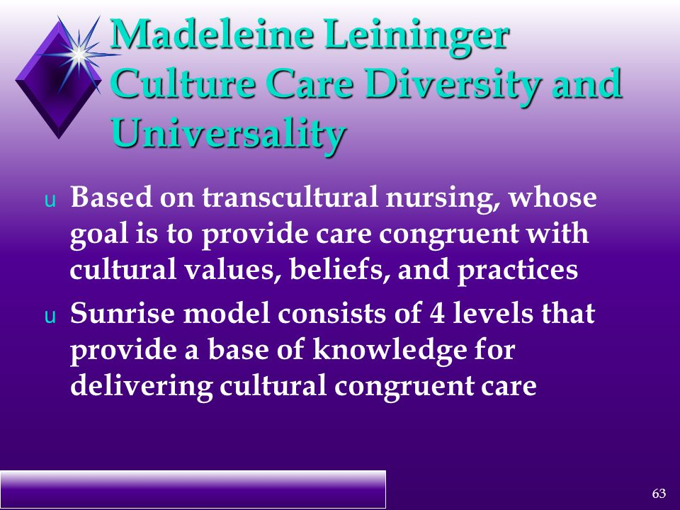 cultural diversity in nursing care Ncsbn learning extension site outline techniques to work effectively with cultural diversity amongst health care workers gain knowledge about nursing diversity.