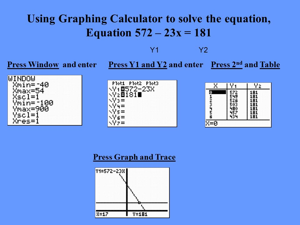 how to solve simultaneous equations on graphing calculator