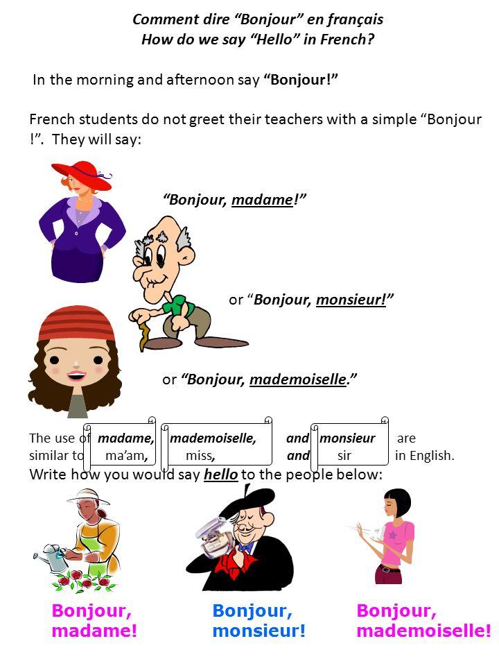 Comment dire bonjour en franais how do we say hello in french comment dire bonjour en franais how do we say hello in french m4hsunfo