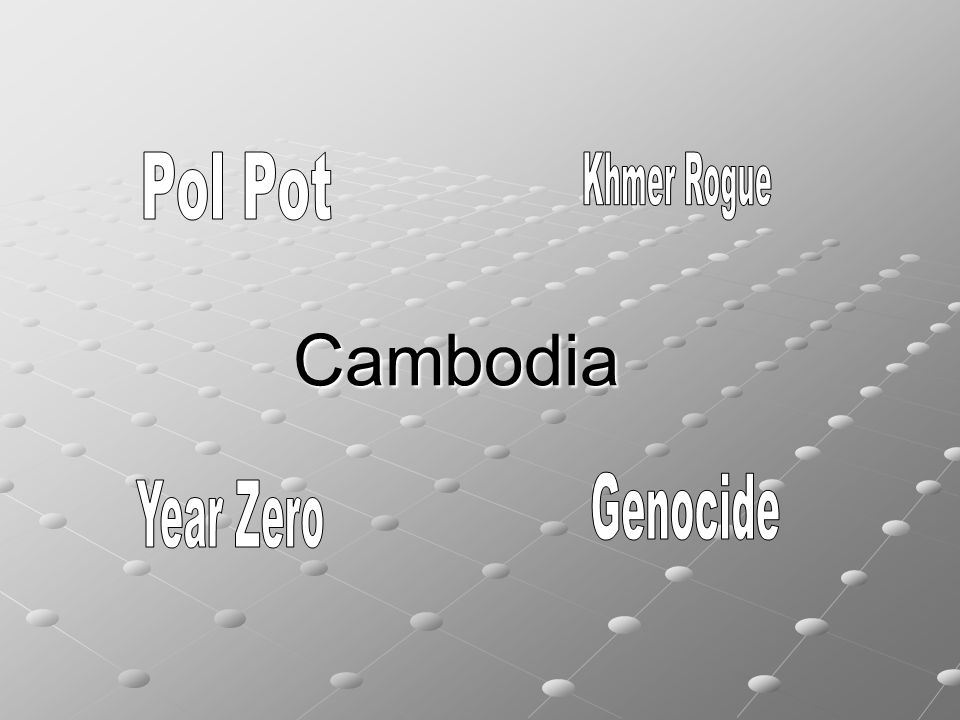 a report on the khmer rogue and the cambodian genocide
