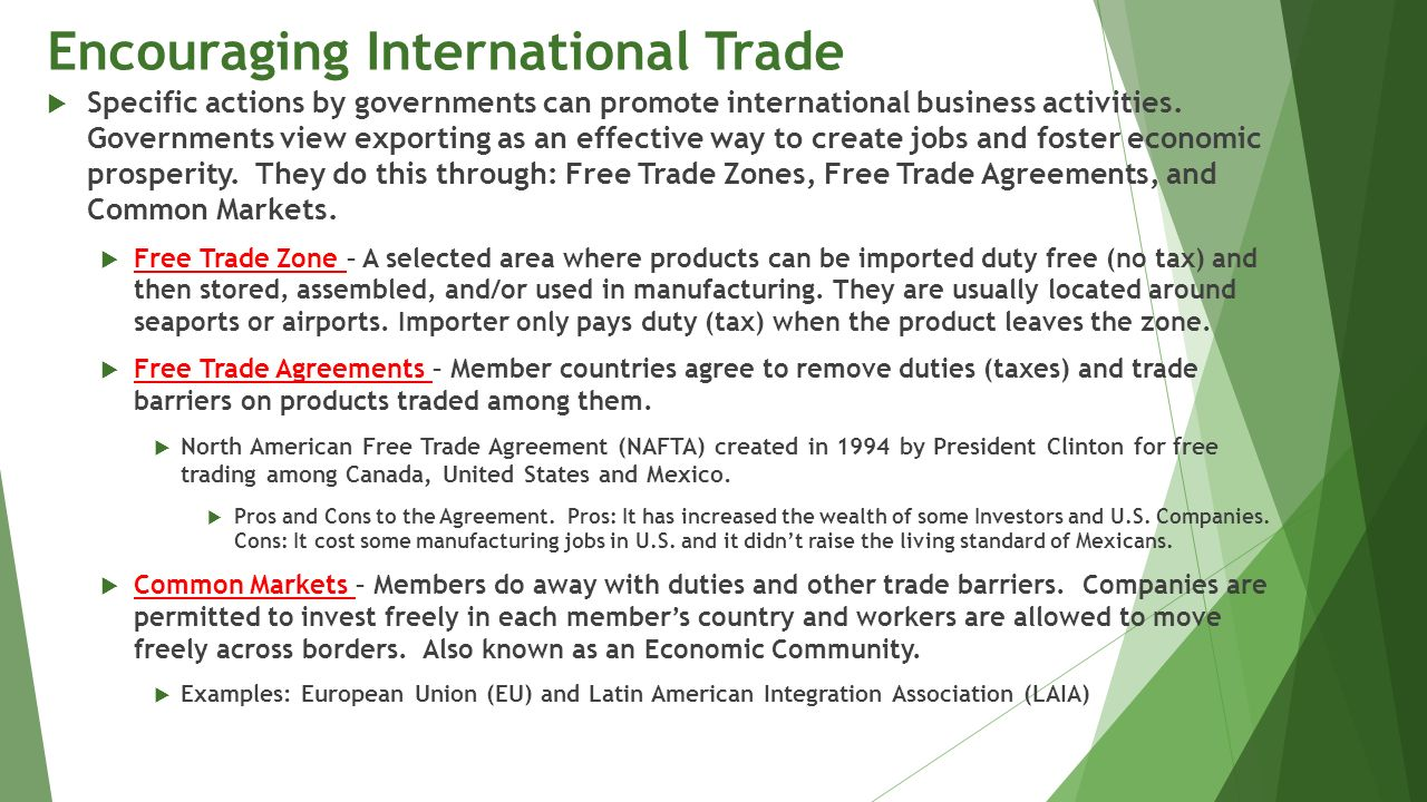 pros and cons of north american free trade agreement In 1994, the united states, mexico and canada implemented the north american free trade agreement, one of the first and biggest free trade agreements in the world.