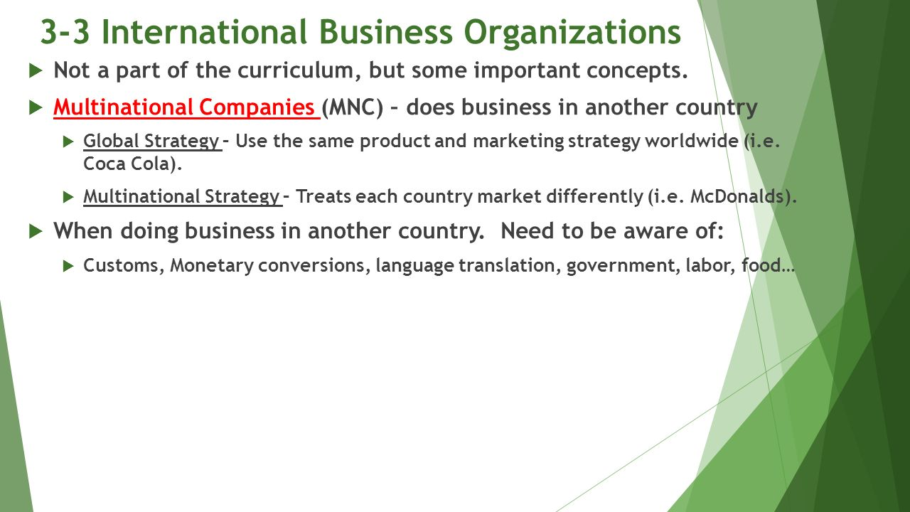 international business doing business in another country essay International entry and country analysis  in international business activity have experienced an  or relocate a production facility to another country.