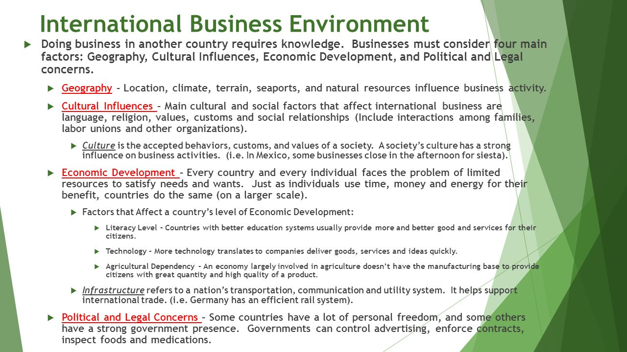 environmental factors affecting international business essays Starbuck's environmental factors  starbucks business marketing essays]  evaluation of the international business strategy essay.