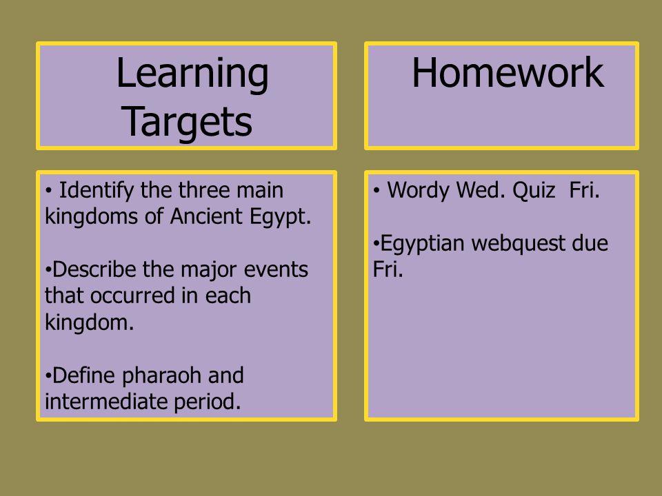 egypt homework