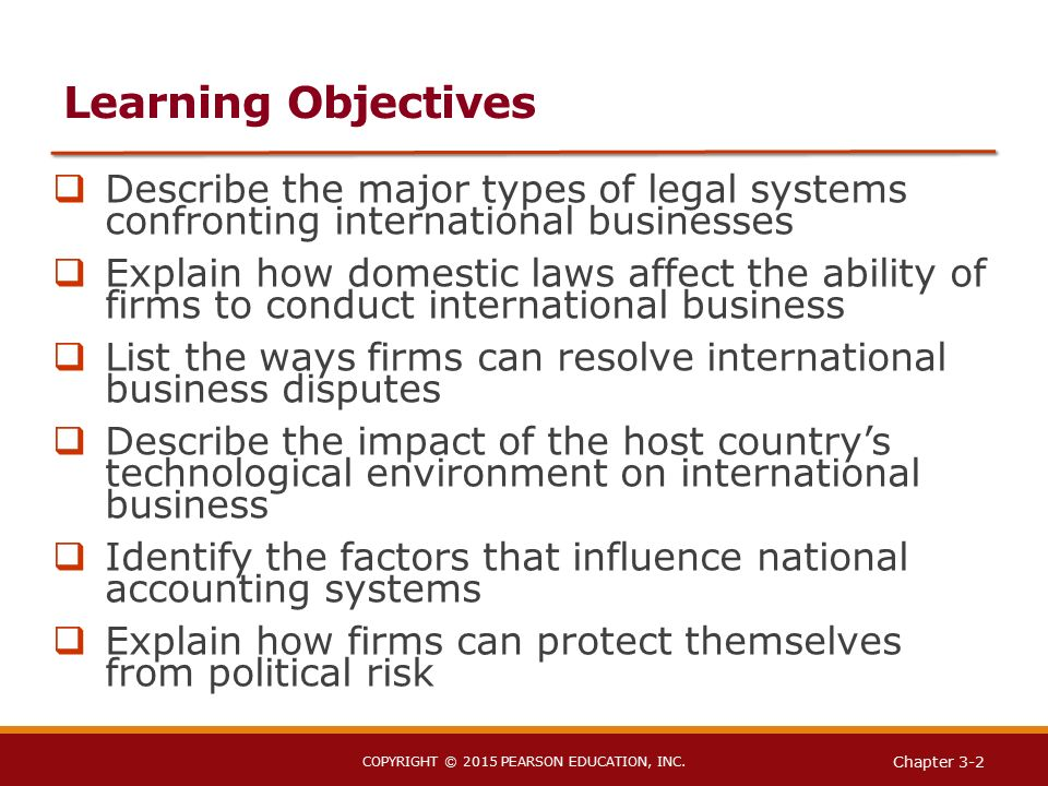 how the legal system affects international business Getting acquainted with how politics and law affect business activities political and legal environment there is no absolute international law system.