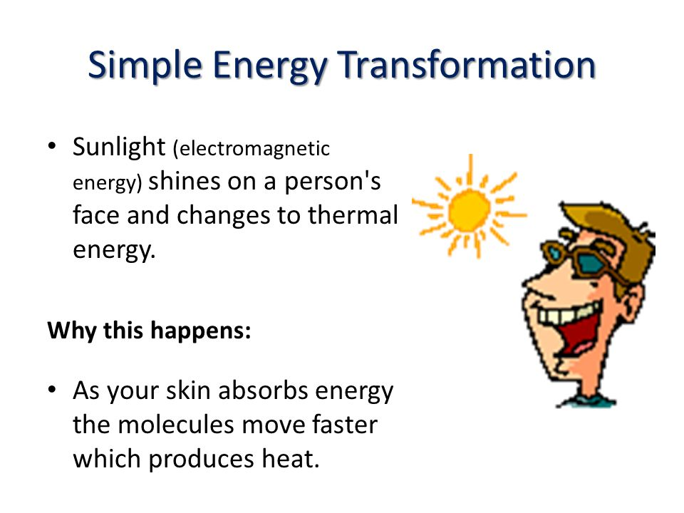 Energy Transformation Chain Examples Reliant Energy