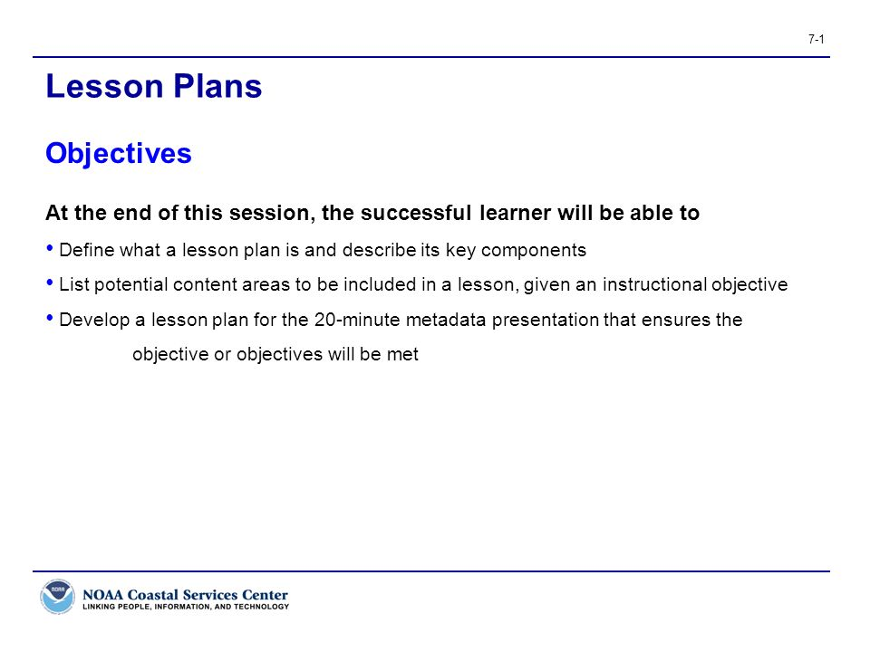 Lesson Plans Objectives  Ppt Video Online Download