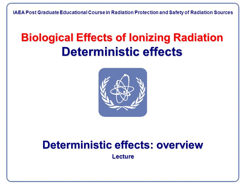 biological effects of radiation essay example Examples of particle radiation that are ionizing may be energetic electrons, neutrons, atomic ions or photons electromagnetic radiation can cause ionization if the energy per photon, or frequency, is high enough, and thus the wavelength is short enough.