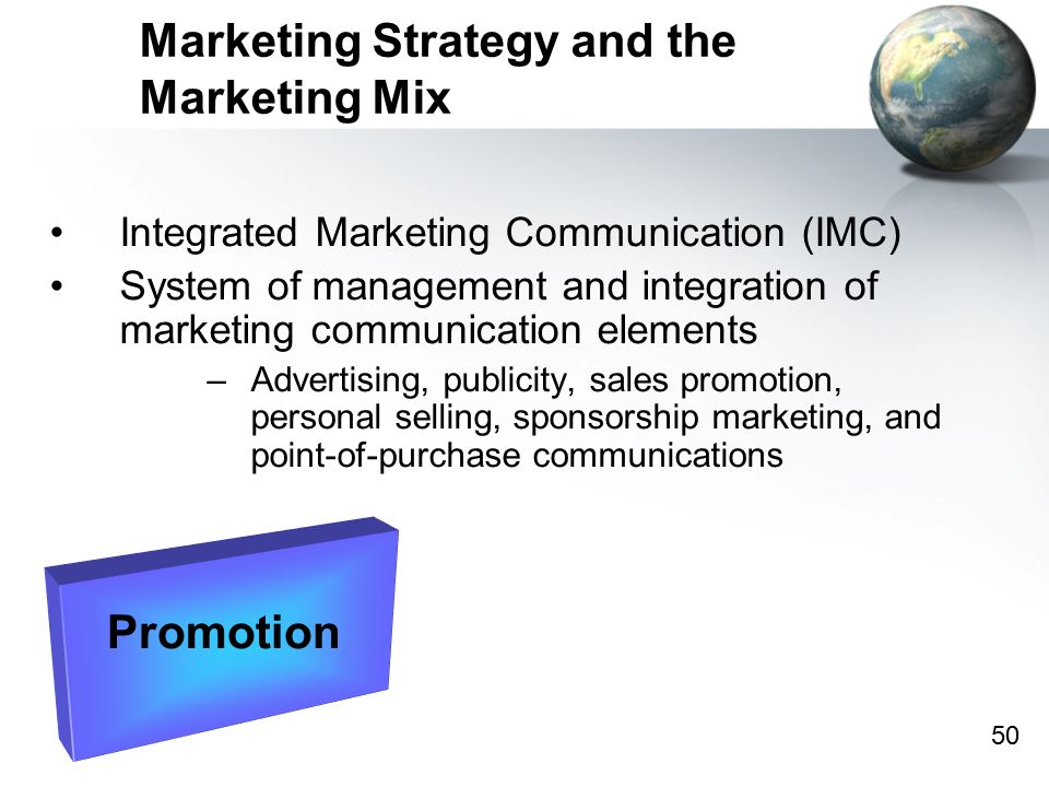 management of intergrated marketing communication in