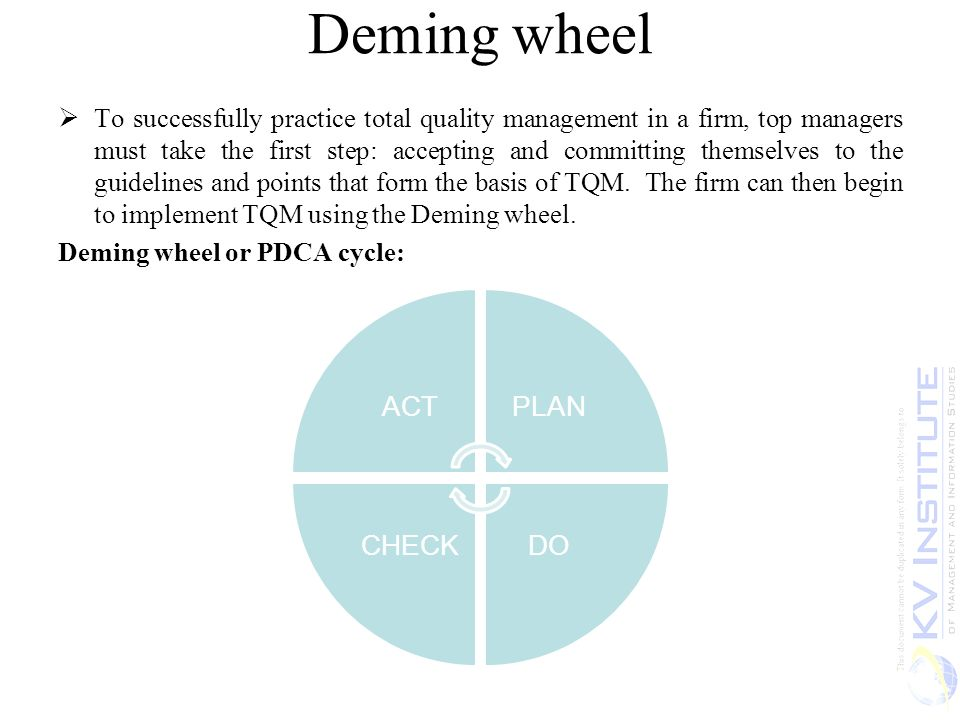 the deming wheel essay