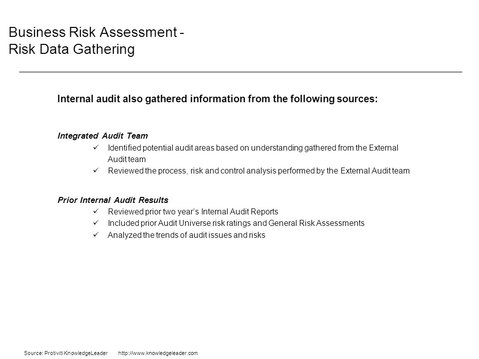 the audit risk assessment and potential areas An it security risk assessment takes on many names and can vary greatly in terms of method, rigor and scope, but the core goal remains the same: identify and quantify the risks to the organization's information assets  security and audit by taking steps to formalize a review, create a review structure, collect security knowledge within.