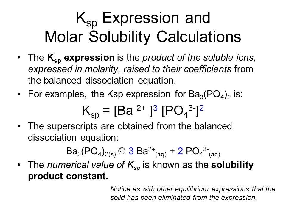 a lab experiment to calculate the solubility product constant of an ionic salt from titrations What do we mean by 'solubility product' phases 42 solubility product k sp and common ion effect 43 ion the ionic product.