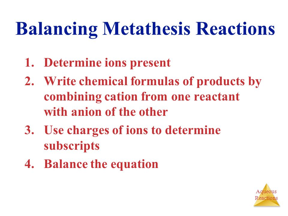 metathesis reactions simple solubility rules Pauling scale of electronegativities for the various elements 1 h metathesis reactions rules for predicting solubility in water.