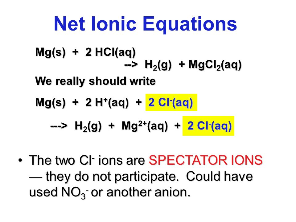 ion and net ionic equation Explains how you construct electron-half-equations for redox reactions and combine them to give the ionic equation for  ion, cr 2 o 7 2  to give a net 6.