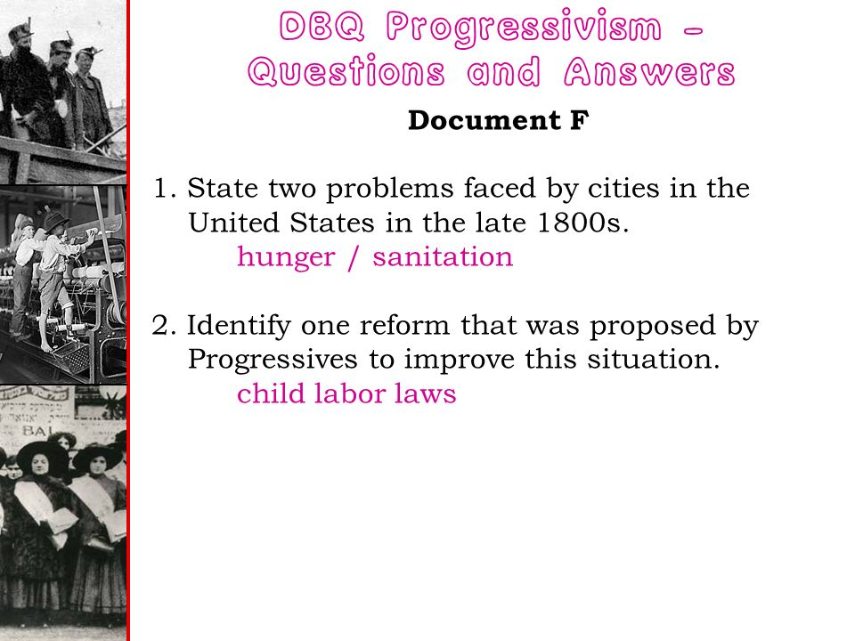 women reform dbq Using evidence: nys regents style dbq  reform movements :  women  around the nation rallied prior to the passage of this amendment to spark a  woman's.