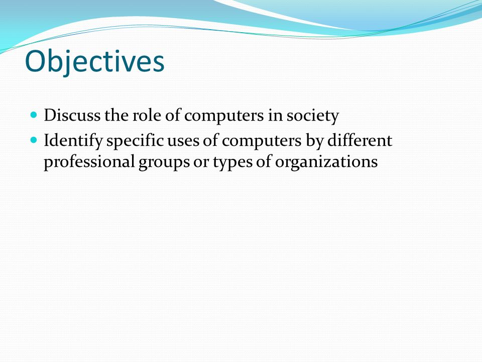 the role of computers in modern society As we are aware of information technology had its modern existence from  a very dominant role in our  information technology, its impact on society.