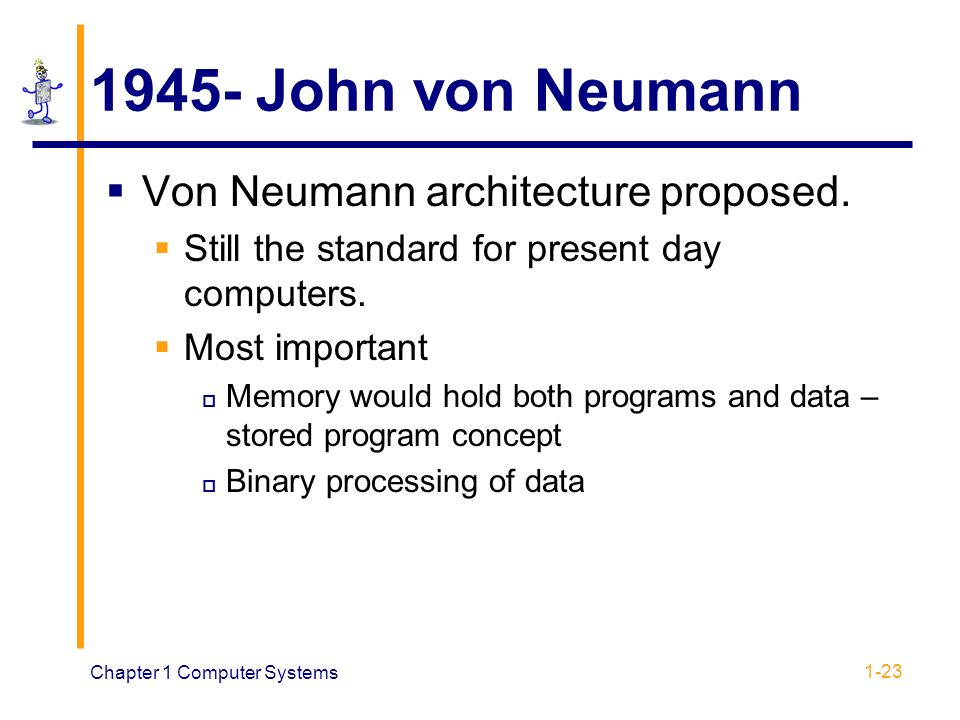 Ecen209 computer architecture chapter 1 in reference for Architecture von neumann