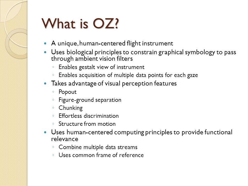 Principles Of Data Acquisition : Oz human centered flight displays ppt video online download