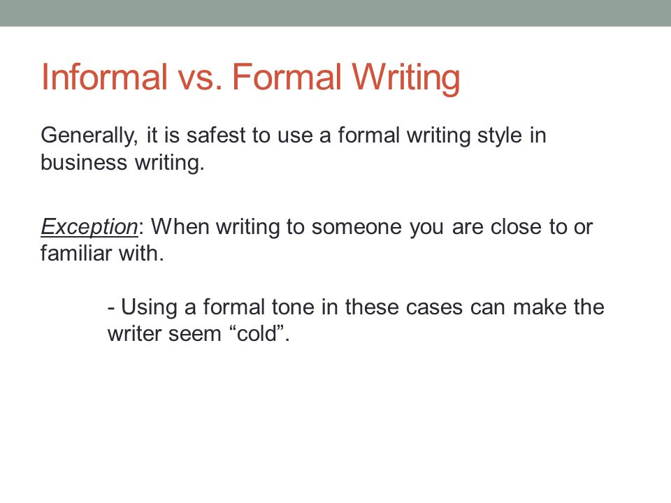 Personal Letter Writing Format