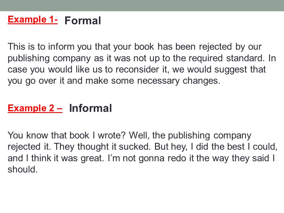 formal writing examples
