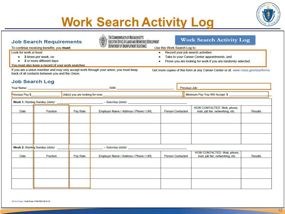 work activity log sheet template