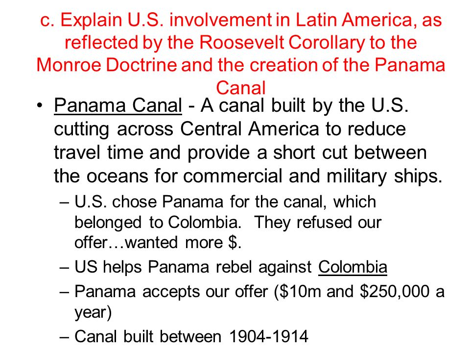 panama relationship with the us