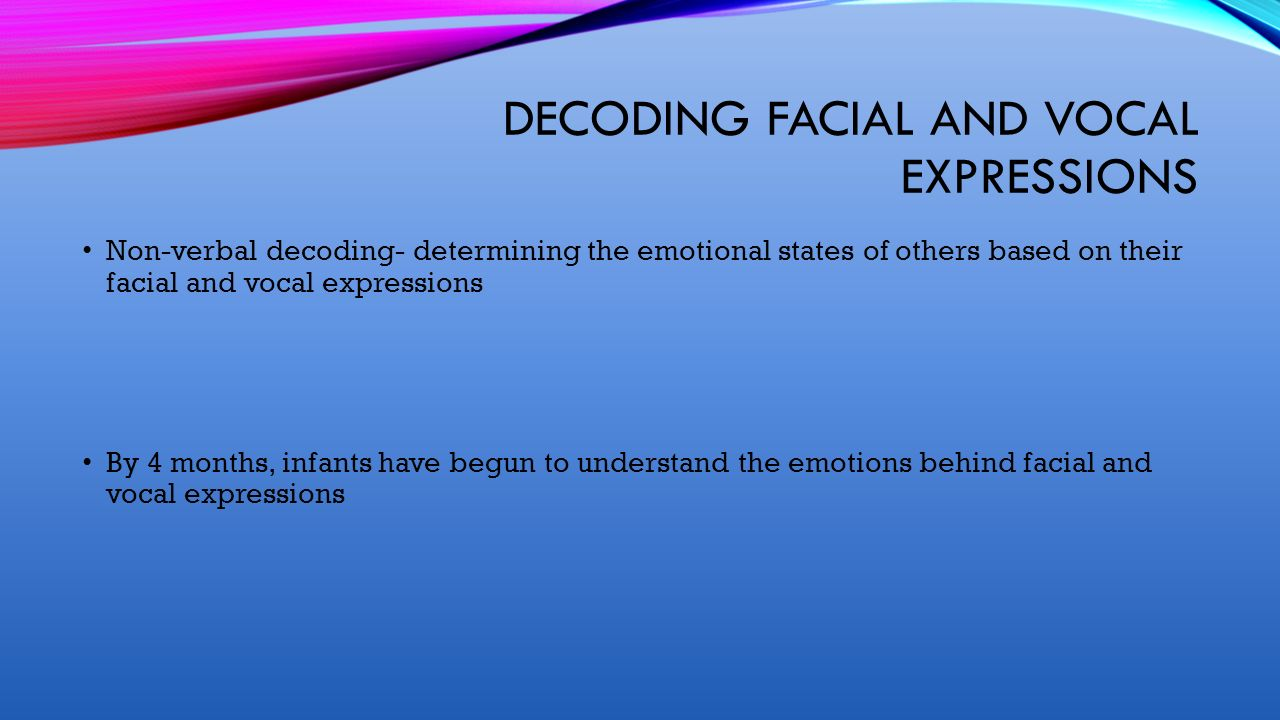 Decoding facial expressions