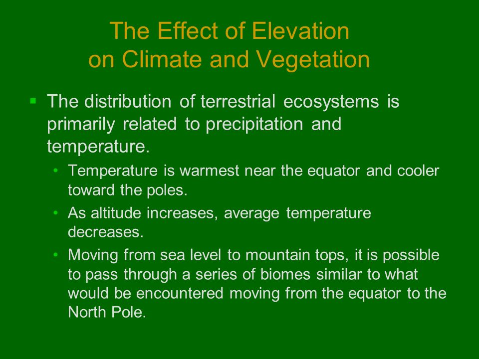relationship between latitude elevation and climate
