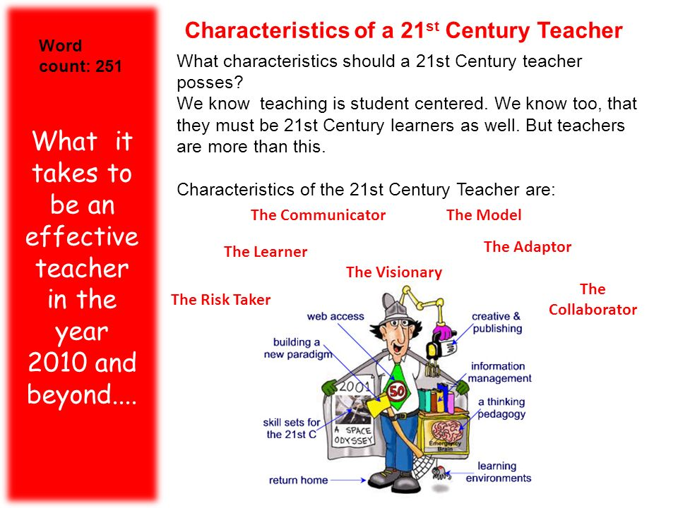 Characteristics of a 21st Century Teacher