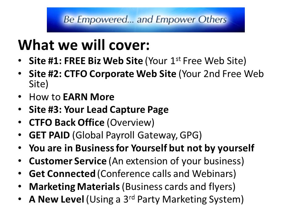 Welcome to your free online business ppt video online download - Back office site internet ...
