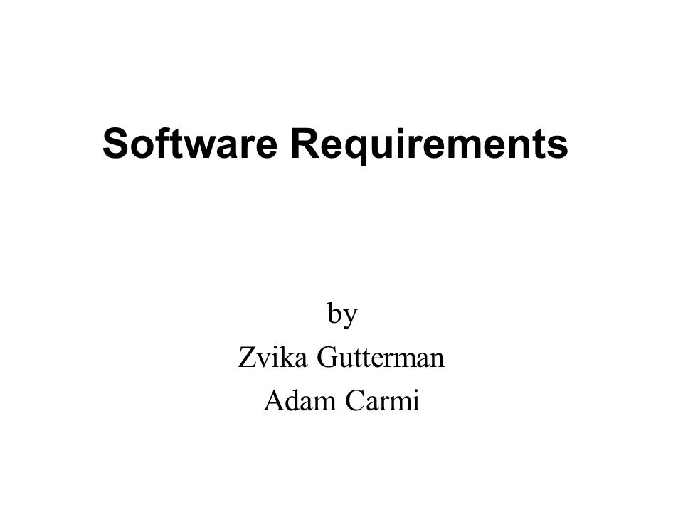 Software Requirements Ppt Video Online Download - Software requirements