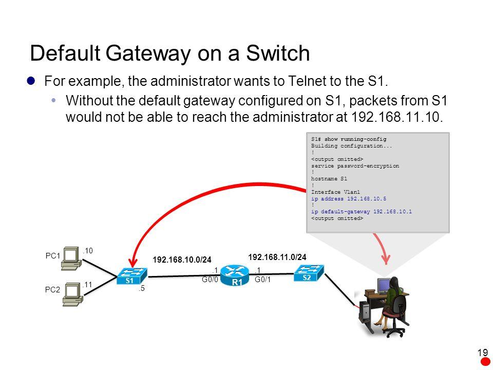 how to change default gateway ip address