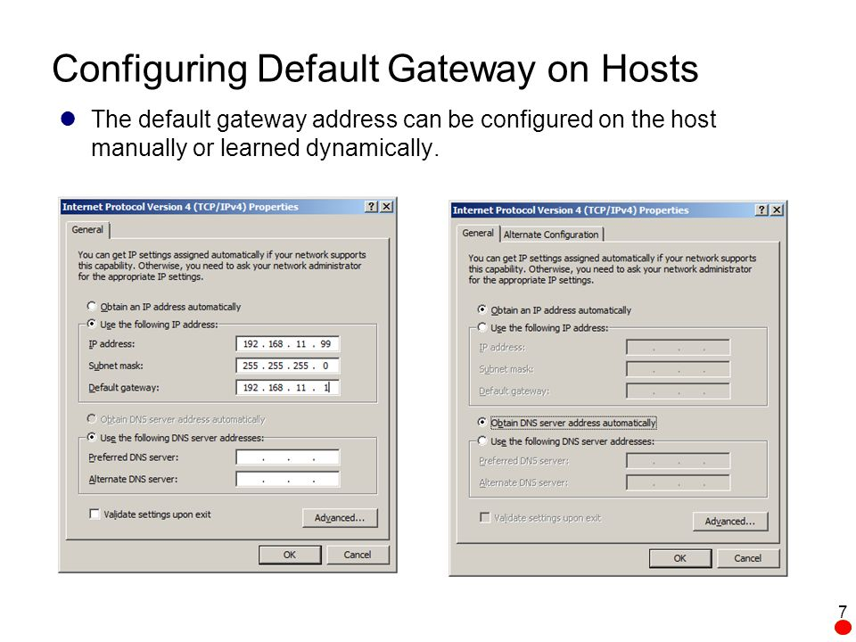 how to change default gateway ip windows 7