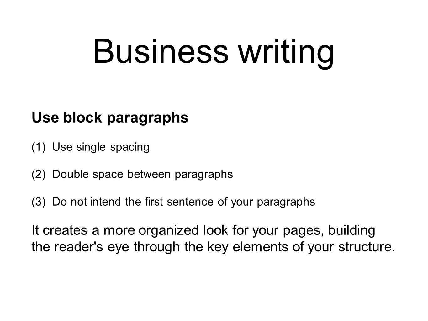 Effective Business Writing: Structure your document