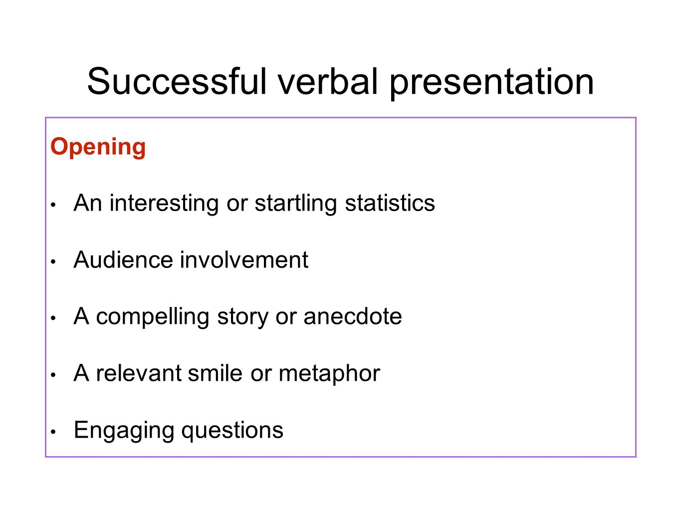 how to make a verbal presentation interesting