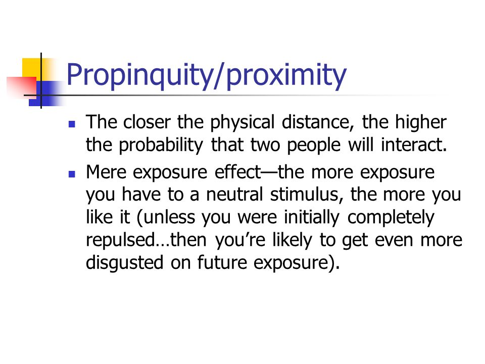 propinquity and dating