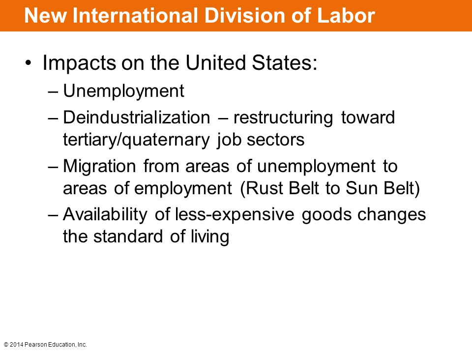 Key Issues Where Is Industry Distributed Why Are Situation And - Changes in us employment international mapping pearson education inc