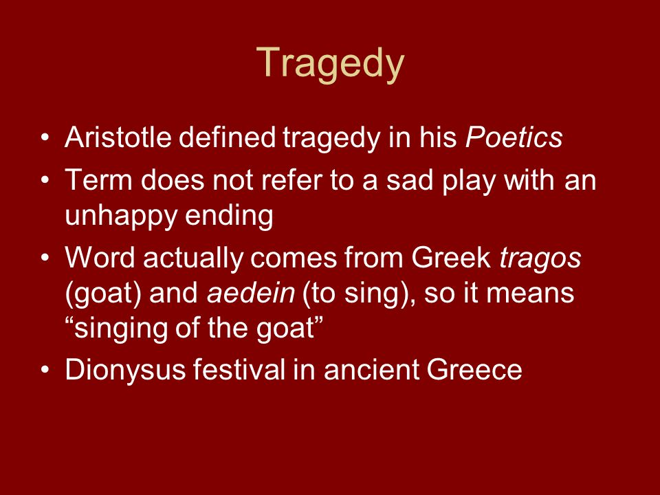 aristotles written thesis on tragedy is called