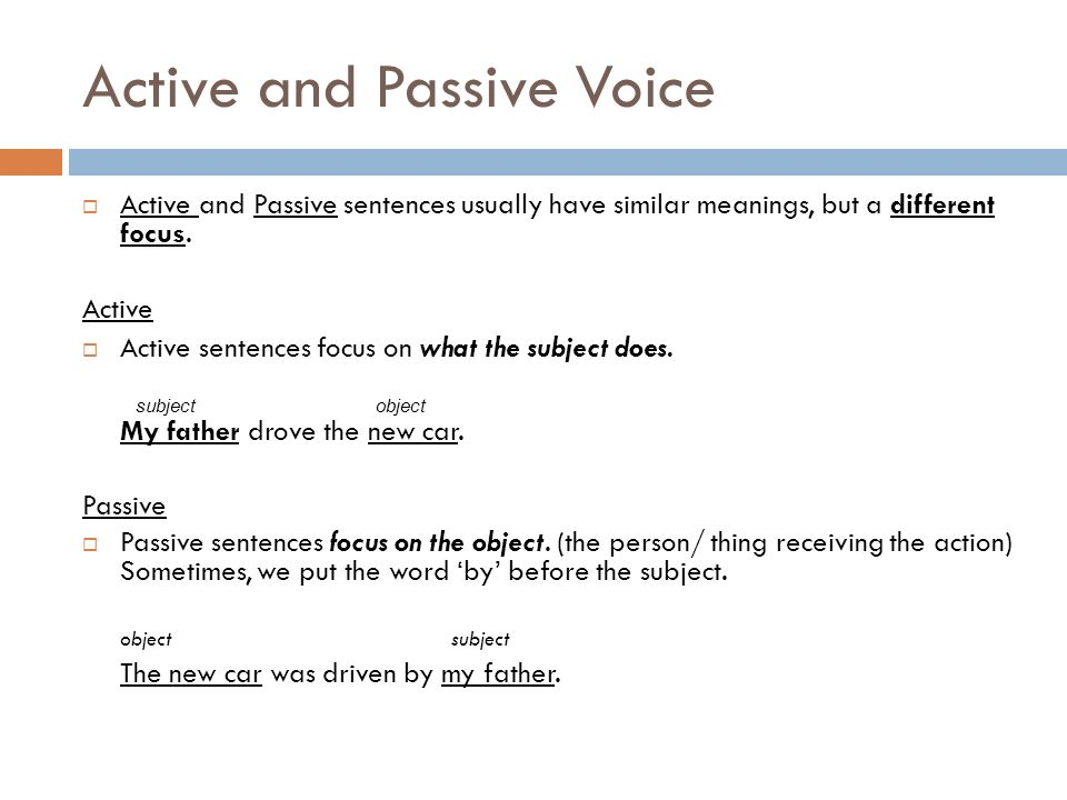 how to write active and passive voice