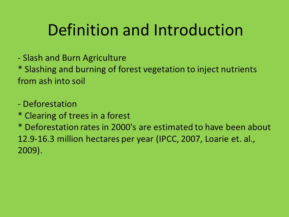 Deforestation and slash and burn agriculture ppt video for Introduction of soil