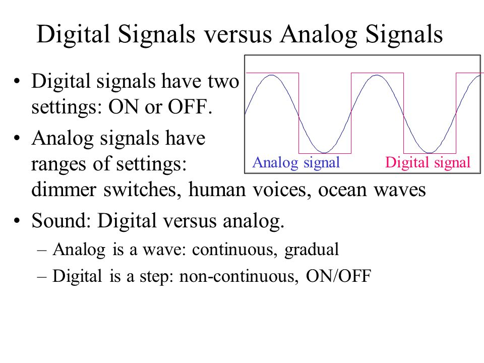 what is analog signal pdf
