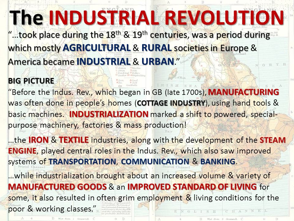 The Industrial Revolution Ppt Download