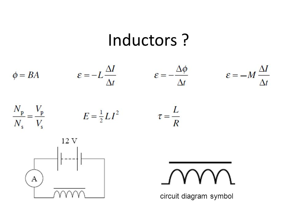 Inductors ? circuit diagram symbol. - ppt video online download