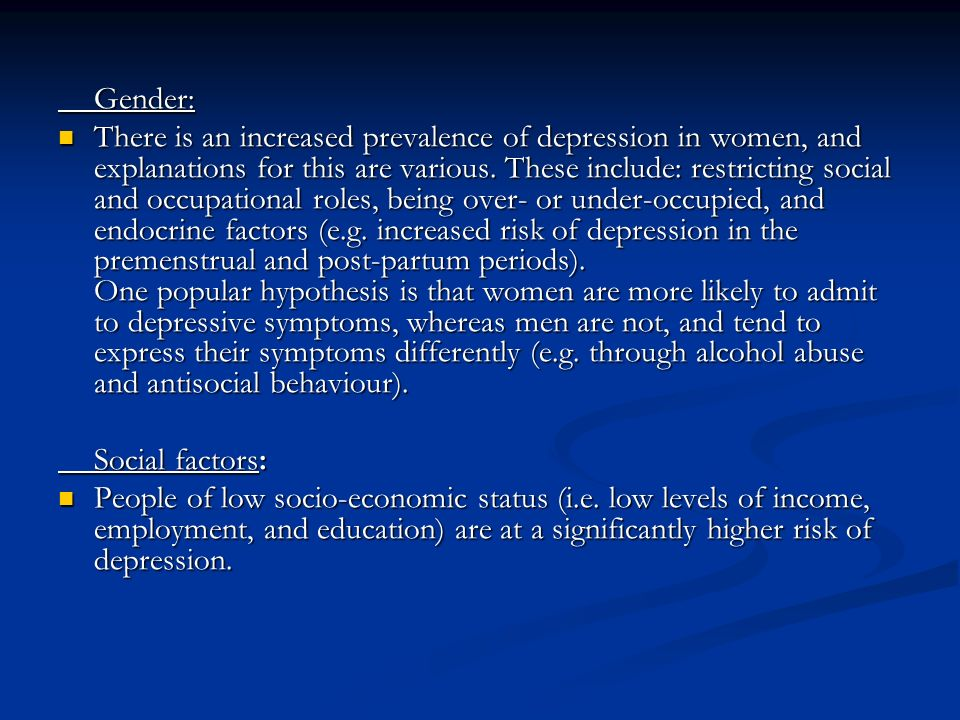 Premenstrual syndrome and gender stereotypes behaviour and expectations